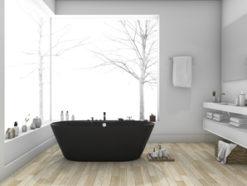 Un artisan plombier intervient promptement pour une installation baignoire en résine.