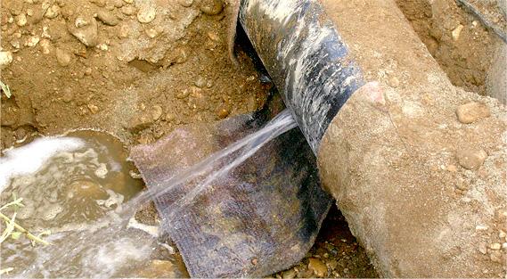fuite d'eau encastré