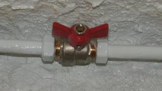 Entretien des vannes et robinets d'arrêt