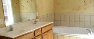 L'humidité dans une salle de bains